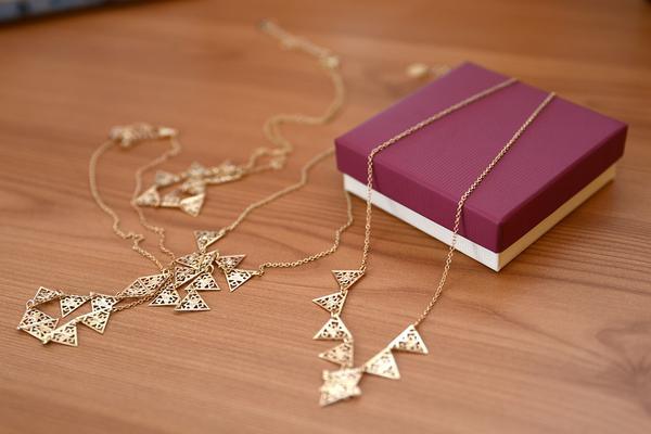 złota celebrytka naszyjnik